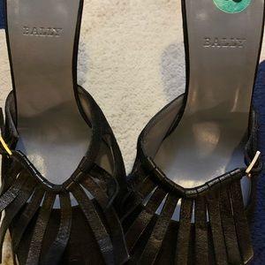 Black Bally heels